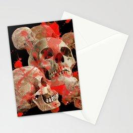 MACABRE BLOOD & SKULLS BLACK  ART Stationery Cards