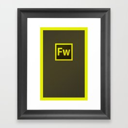 I love Fireworks Framed Art Print