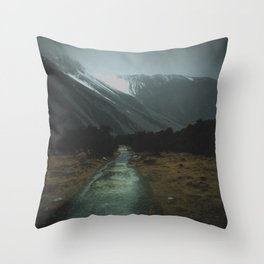 Hiking Around the Mountains & Valleys of New Zealand Throw Pillow