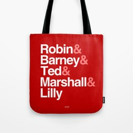 How I Met Your Mother Typography Tote Bag