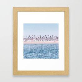 Vintage Newport Beach Print {3 of 4} | Photography Ocean Palm Trees Cool Blue Tropical Summer Sky Framed Art Print