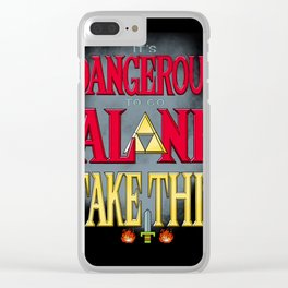 It's Dangerous To Go Alone Take This Clear iPhone Case