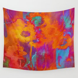 bright abstract bouquet Wall Tapestry