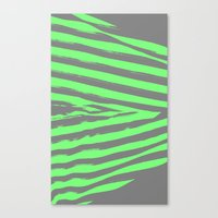 stripes Canvas Prints featuring Green & Gray Stripes by 2sweet4words Designs