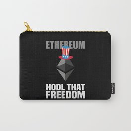 Ethereum Hodl That Freedom Funny Bitcoin Gift Carry-All Pouch