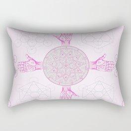 Purple Palms Rectangular Pillow