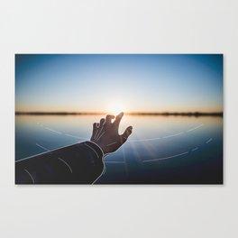 Line Sunset Canvas Print