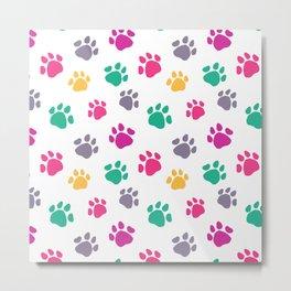 Colorful jaguar paw print Metal Print