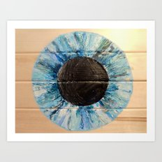 Ice Blue Iris Art Print