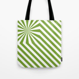 Stripes explosion - Green Tote Bag