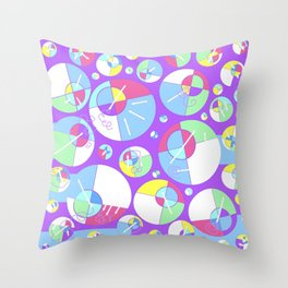 Bubble Purple Throw Pillow
