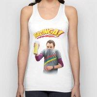 bazinga Tank Tops featuring Sheldon  - BAZINGA! by ShannonPosedenti