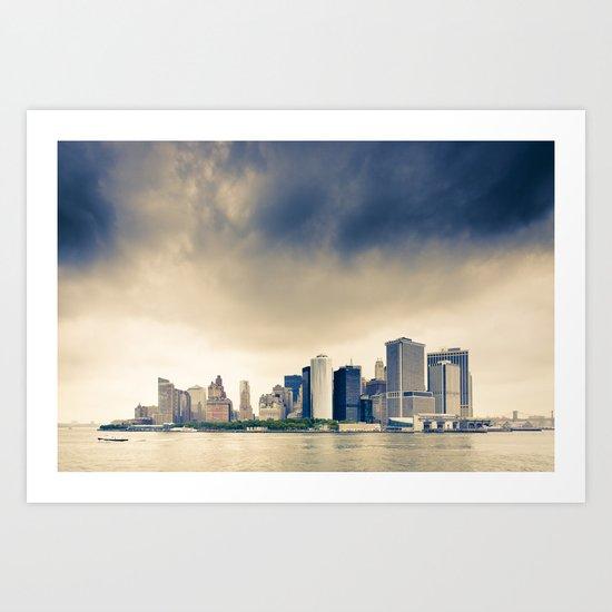 Manhattan Storm Art Print