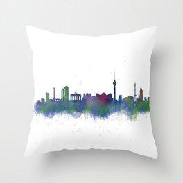 Berlin City Skyline HQ2 Throw Pillow