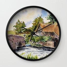 New Zealand, movie set   Watercolor Wall Clock
