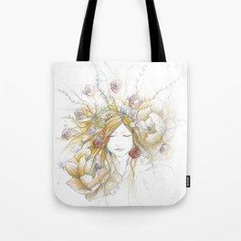 Autumn Poppy Fairy Tote Bag