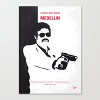 entourage Canvas Prints featuring No526 My MEDELLIN minimal movie poster by Chungkong
