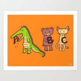 A is for Jerks! Art Print