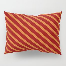 Chocolate & Dark Red Colored Lined/Striped Pattern Pillow Sham