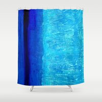 aqua Shower Curtains featuring Aqua by BruceStanfieldArtistPainter