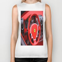 ferrari Biker Tanks featuring Ferrari Fizz by Scattered_Stars