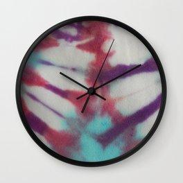 January White Petals Tie Dye Wall Clock
