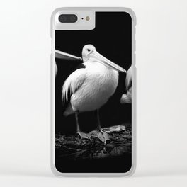 Pelican Trio black and white Clear iPhone Case
