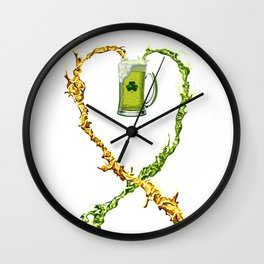 St.Patrick's Day Drunk Mode ON - LIMITED EDITION! Wall Clock