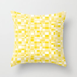Mod Gingham - Yellow Throw Pillow
