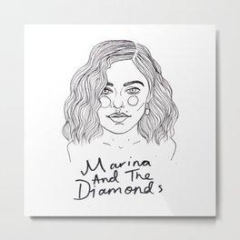 Marina Diamandis Metal Print