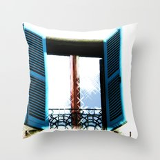 Window to the Present Throw Pillow