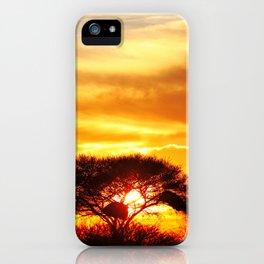 African sunrise iPhone Case