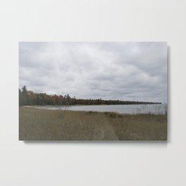 Autumn at Secret Beach Metal Print
