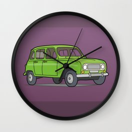 Green R4 Car Wall Clock