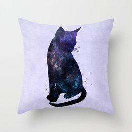 Galactic Cat Throw Pillow