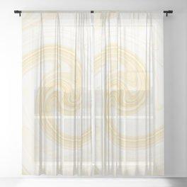 Molten swirls zen, yin and yang serendipity in Aspen-gold Sheer Curtain