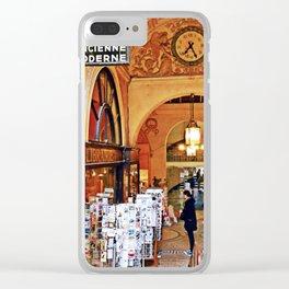 Paris Bookshop Clear iPhone Case