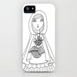 Little Red Riding Hood Visits Grandma iPhone Case