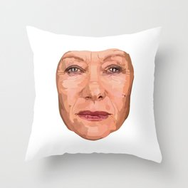 Shaping the Stars - Helen Mirren Throw Pillow