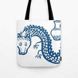 The Dragon Who Escaped Tote Bag