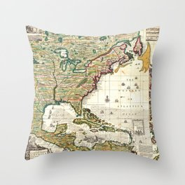 Map of the British Empire in America 1773  Throw Pillow