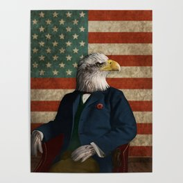Official Portrait of Senator Silas Eagle Poster