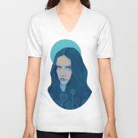 dandelion V-neck T-shirts featuring Dandelion by Natalie Foss