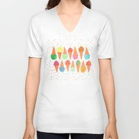 sprinkles V-neck T-shirts featuring Ice Cream & Sprinkles by julz nally