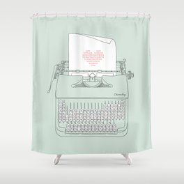 The Chemistry of Love Shower Curtain
