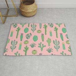 Cactus Pattern Pink Rug
