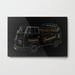 VW Microbus Hippiebus Germany Metal Print