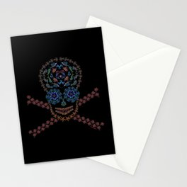 Marine Creatures Skull Stationery Cards