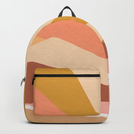 Golden Rainbow Sunset - Earthy Retro Backpack