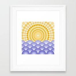LIGHT OF DAWN (abstract tropical) Framed Art Print